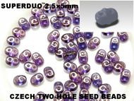 SD-00030/15726 Crystal Lila Lumi SuperDuo Beads * BUY 1 - GET 1 FREE *