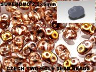 SD-00030/27101 Crystal Capri Gold SuperDuo Beads * BUY 1 - GET 1 FREE *