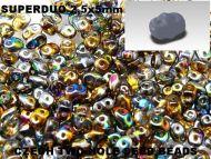 SD-00030/95300 Magic Copper Topaz SuperDuo Beads * BUY 1 - GET 1 FREE *