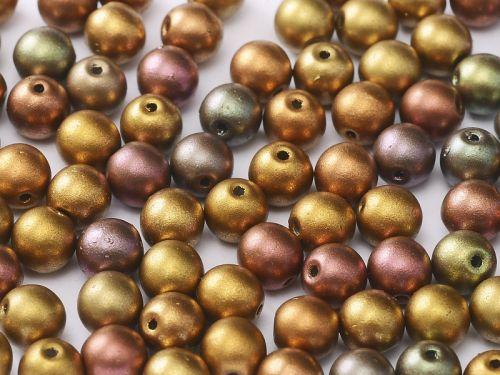 RB3-01610 Gold Iris Satin Mix Round Beads 3 mm - 100 x