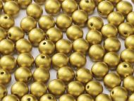 RB6-01720 Olive Gold Satin Round Beads 6 mm
