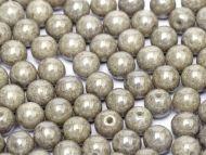 RB8-03000/14449 Chalk Grey Lumi Round Beads 8 mm - 25 x