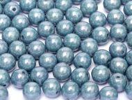 RB8-03000/14464 Chalk Blue Lumi Round Beads 8 mm