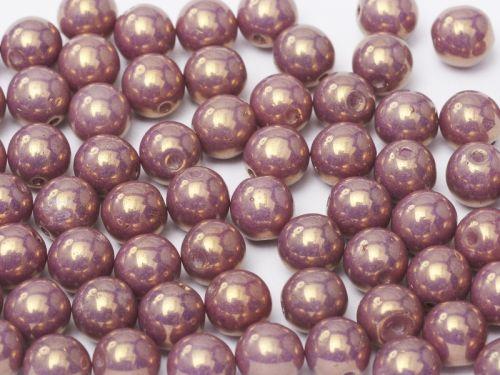 RB3-03000/14496 Chalk Lavender Lumi Round Beads 3 mm