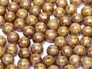 RB8-03000/15695 Chalk Bronze Lumi Round Beads 8 mm