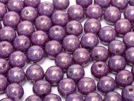 RB8-03000/15726 Chalk Lila Lumi Round Beads 8 mm - 25 x