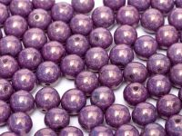 RB3-03000/15726 Chalk Lila Lumi Round Beads 3 mm