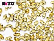 R-10060/26441 Topaz Amber (Gold) Rizo Beads * BUY 1 - GET 1 FREE *