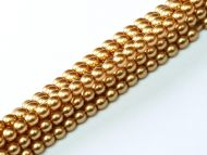 Gold 2 mm Glass Round Pearls