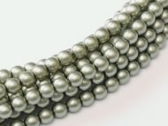 Powder Grey/Green 2 mm Glass Round Pearls