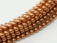 Copper 2 mm Glass Round Pearls