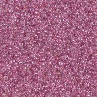 15-1524 Sparkling Peony Pink Lined Crystal (like DB0902) 15/0 Miyuki