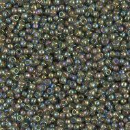 11-0361 Chartreuse Lined Rainbow Olivine 11/0 Miyuki