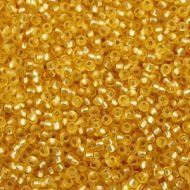 8-0003F Matte Silver-Lined Gold 8/0 Miyuki