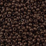8-0409 Opaque Chocolate Brown (like DB0734) 8/0 Miyuki