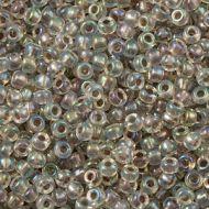 15-2195 Taupe Lined Rainbow Crystal (like DB0064) 15/0 Miyuki