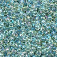 15-0263 Sea Foam Lined Rainbow Crystal (like DB0084) 15/0 Miyuki
