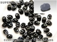 SD-23980/43400 Jet Picasso SuperDuo Beads * BUY 1 - GET 1 FREE *