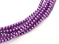 Pink Lavender 2 mm Glass Round Pearls