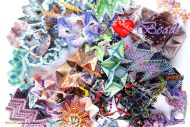 Postcards 26 - Wall of Beads Ina - High Quality Print