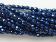 FP03 Metallic Dark Blue 3 mm Fire Polished