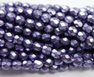 FP04 Metallic Purple 4 mm Fire Polished
