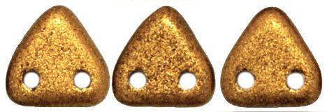 TTR-01730 Goldenrod Satin CzechMates Triangle 2-Hole * BUY 1 - GET 1 FREE *