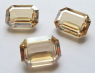 4610 Crystal Golden Shadow Unfoiled Rectangle 18x13 mm Swarovski