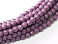 Fiesta Hollyhock Purple 3 mm Glass Round Pearls