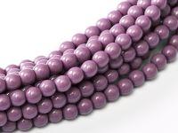 Fiesta Hollyhock Purple 3 mm Glass Round Pearls