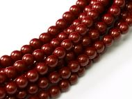 Fiesta Cranberry 2 mm Glass Round Pearls