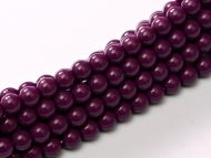 Fiesta Eggplant 2 mm Glass Round Pearls
