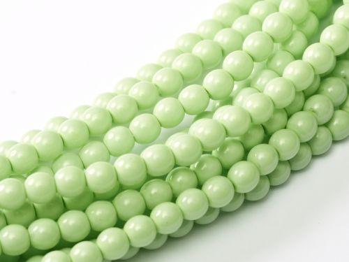 Fiesta Light Spring Green 4 mm Glass Round Pearls