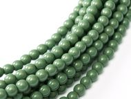 Fiesta Hartford Green 2 mm Glass Round Pearls