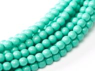 Fiesta Turquoise 2 mm Glass Round Pearls