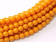 Fiesta Pumpkin 2 mm Glass Round Pearls