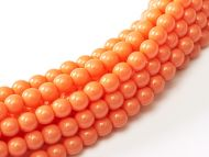 Fiesta Peach Coral 2 mm Glass Round Pearls