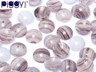P-52000 Purple Marble Fantasy Piggy Beads ~ 50 x * BUY 1 - GET 1 FREE *