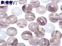 P-52000 Purple Marble Fantasy Piggy Beads