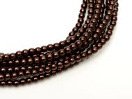 Dark Bronze 4 mm Glass Round Pearls