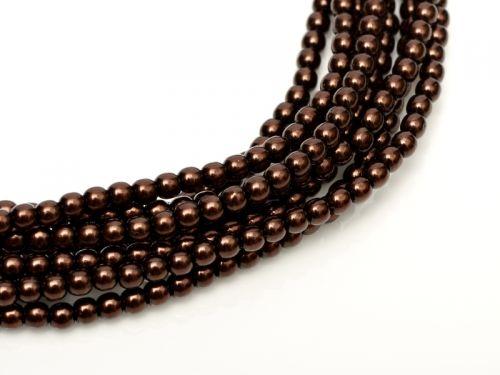 Dark Bronze 2 mm Glass Round Pearls