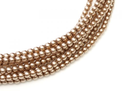 Cocoa 2 mm Glass Round Pearls