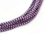 Purple 2 mm Glass Round Pearls