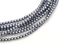 Hematite 8 mm Glass Round Pearls
