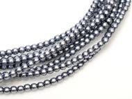 Hematite 8 mm Glass Round Pearls