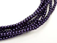 Dark Purple 2 mm Glass Round Pearls