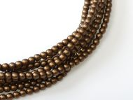 Light Bronze Satin 2 mm Glass Round Pearls