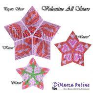 Tutorial Valentine All Stars 3D Peyote Star + Basic Tutorial Little 3D Peyote Star (download link per e-mail)