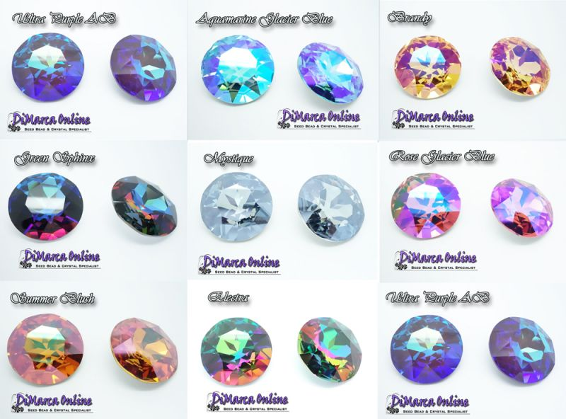 Swarovski 1201 Round Stone 27 mm After-Market Coatings
