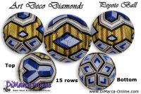 Tutorial 15 rows - Art Deco Diamonds Peyote Ball incl. Basic Tutorial (download link per e-mail)